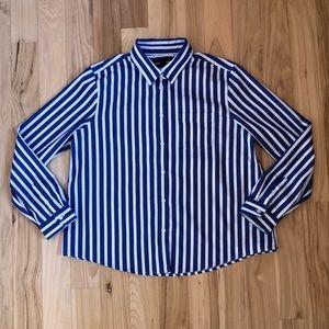 Banana Republic size Medium petite striped blouse